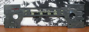 Vintage Becker Mexico Cassette Vollstereo Car Radio Dial Scale 375v 1020 01