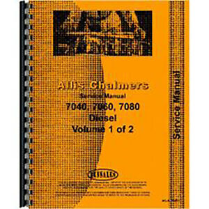 Service Manual For Allis Chalmers 7080 diesel Tractor