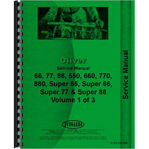 New Oliver 550 Tractor Service Manual