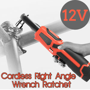 12v 3 8 Electric Rechargeable Cordless Ratchet Wrench Right Angle Wrench Tools