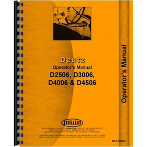 Operators Manual For Deutz allis D4506 Tractor