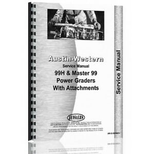 Equipment Service Manual For Austin Western 99 Grader