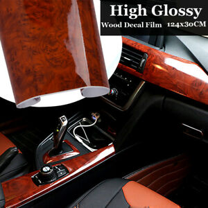 12 X 48 High Glossy Wood Grain Car Interior Diy Vinyl Sticker Decal Wrap Film