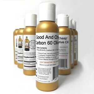 Carbon 60 Olive Oil 90mg 100ml Organic C60 Supplement 99 9 Solvent Free C60