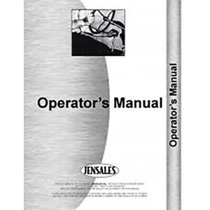 Operators Manual For Deutz allis Dx 110 Tractor diesel 2 4 Wheel Drive