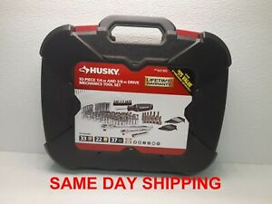 Husky 92 piece 1 4 In And 3 8 In Drive Mechanics Tool Set Item 801459 bb5