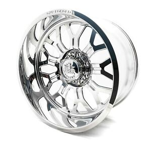 4 22x12 Gxp Forged Hcd16 Wheels Polished 8x170 For Ford Super Duty Powerstroke
