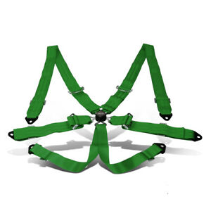 Nrg Sbh 6pcgn 6 point 2 Width Safety Racing Harness Seat Belt W steel Cam Lock