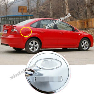 Fuel Gas Tank Door Cover Cap Chrome Look Trim Stainless For Ford Focus 2005 11