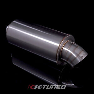 K tuned Turndown dolphin Tail Tip Universal Stainless Steel Muffler 2 5 Inlet