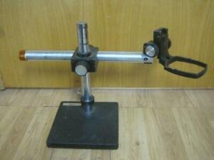 Leica Adjustable Microscope Boom Stand Assembly W focusing Arm Rectangular Mount