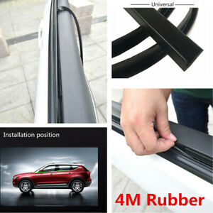 Universal 4m Black Rubber Car Window Edge Abnormal Noise Weatherstrip Trim Strip
