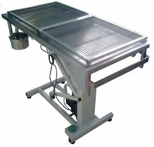 Veterinary Surgical Operating Table Dh04 Electric Removable Wire Mesh Top New