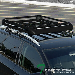 Topline Universal 50 Aluminum Roof Rack Basket Luggage Storage Carrier Black
