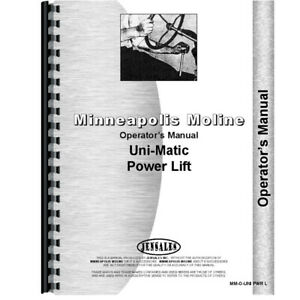 New Operators Manual Made For Minneapolis Moline Tractor Model Uts