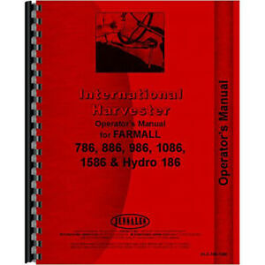 New International Harvester 886 Tractor Operators Manual