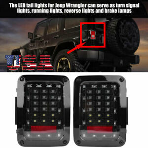 1 Pair Auto Led Tail Lights Brake Lights Fit For Jeep Wrangler Jk 2007 2016 Us