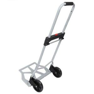 Portable Folding Hand Truck Dolly Luggage Carts Silver 150 220 Lbs Collapsible