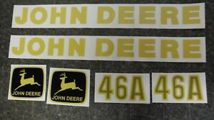 John Deere 46a Tractor Loader Decal Set Vinyl Cut See Details And Pictures