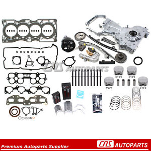 Fits 2002 2006 Nissan Altima Master Engine Rebuild Kit Qr25de