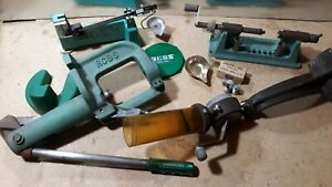 rcbs JR3 single stage press Reloading Lot with Accessories. Scale. Lathe