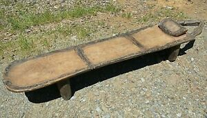 Antique Senufo Tribe African Carved Wooden Kpaala Bed Bench Ivory Coast Africa