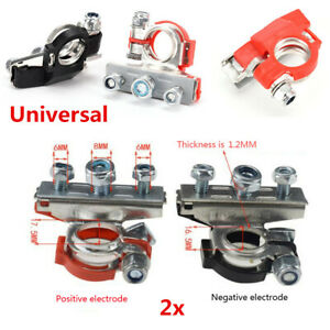 Heavy Duty Car Vehicle Battery Terminal 3 Ways Cable Clamp Quick Connector 2x