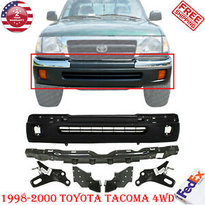 Front Bumper Primed Brackets Lh rh Reinforcement For 98 00 Toyota Tacoma 4wd