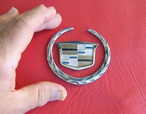 Genuine Cadillac Crest Badge Caddy Emblem Suit Man Cave Wall Display