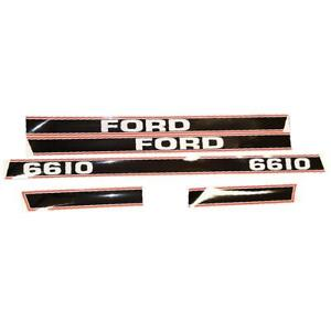 Hood Decal Set For Ford 6610 Tractor 1115 1596 Decals Stickers