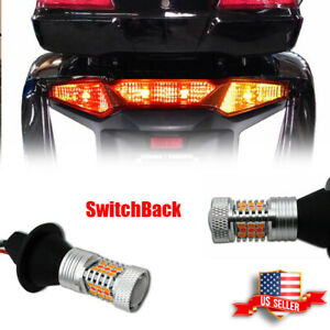 2pcs Red amber Switchback Led Driving turn Signal Lights For Honda Gl1800 F6b