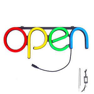 Led Neon Business Open Sign Bar Store Shop Office Open Sign