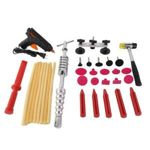 Car Body Bridge Paintless Dent Repair Tools Slide Hammer Puller Kit With Bag