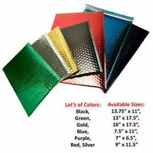25 Pcs Metallic Bubble Mailer Padded Envelopes Small Pack Choose Yr Size