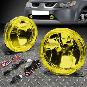 Yellow Lens Universal Front Bumper Driving Fog Light Lamp wiring Harness switch