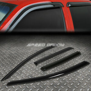 For 07 11 Chevy Aveo T200 Smoke Tint Window Visor Shade Sun Wind Rain Deflector