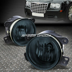 For 05 10 Chrysler 300 C Srt8 07 18 Jeep Wrangler Jk Smoked Lens Fog Light Lamps