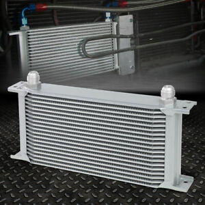 19 Row 10an Powder Coated Aluminum Engine Transmis Sion Racing Oil Cooler Silver