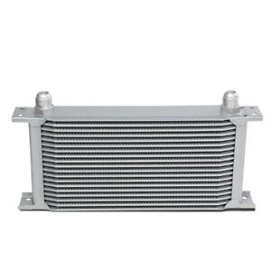19 Row Engine Transmission Racing 10 An Silver Aluminum Powder Coated Oil Cooler