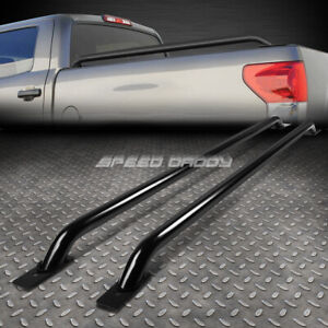 For 99 06 Silverado Sierra 94 17 Ram 78 Bed 71 Black Mild Steel Truck Rail Bars