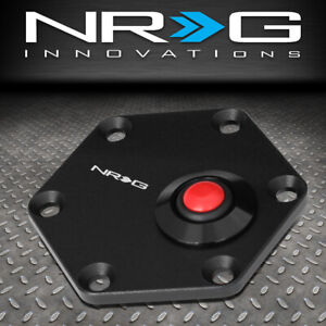 Nrg Innovations Steering Wheel Hexagonal Horn Button Plate Aluminum Str 600bk