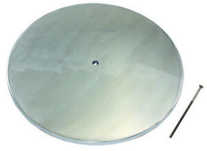 14 Round Classic Smooth Polished Aluminum Air Cleaner Lid Only Chevy V8