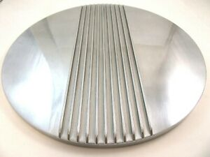 14 Center Finned Retro Polished Aluminum Air Cleaner Lid Only Chevy Ford Mopar