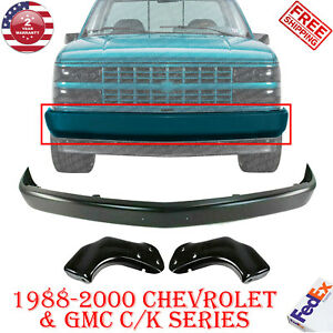Front Bumper Steel Brackets For 1988 2000 Gmc C1500 3500 Chevrolet K1500 3500