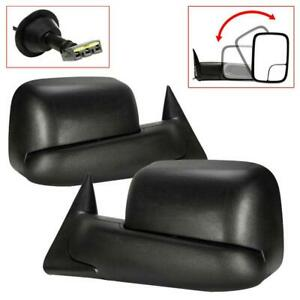 Power Flip Up Trailer Side Towing Mirrors For 94 97 Dodge Ram 1500 3500 Pickup