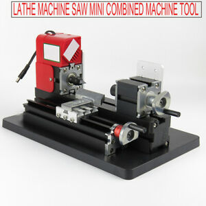 Professional Mini Metal Wood Working Lathe Motorized Machine Diy Tool Metal