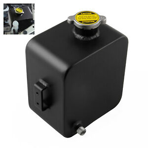 2 5l Universal Aluminum Coolant Radiator Overflow Expansion Water Tank With Cap
