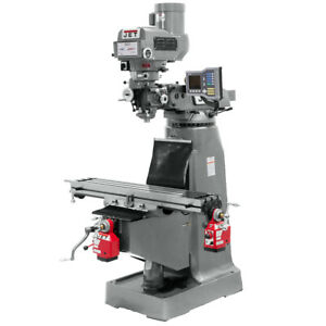 Jet Jtm 4vs 1 Mill With 3 axis Acu rite Vue Dro knee X axis Powerfeeds 690411