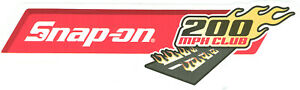 New Vintage Snap On Tools Tool Box Sticker Decal Man Cave Garage 200 Mph 48