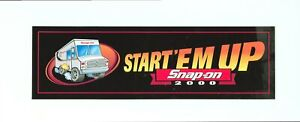 New Vintage Snap On Tools Tool Box Sticker Decal Man Cave Garage 2000 11
